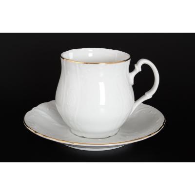 """Чайная пара Джонас 310 мл 2 пред. """"Бернадот белый/золото"""" Bernadotte"""