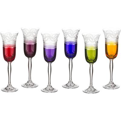 """Набор бокалов 150 мл из 6 шт """"Julia Color"""" Crystal Julia"""