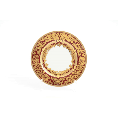 "Набор тарелок 17 см 6 шт  ""Natalia Bordeaux Gold""  Falken Porsellan"