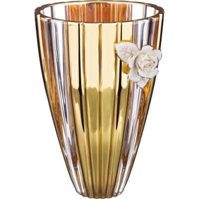 """Ваза для цветов 30 см  """"Golden Rose"""" SAME (Сейм)"""
