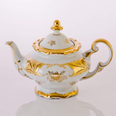 """Чайник заварочный 600 мл """"Кленовый лист белый""""  Weimar Porzellan (Веймар)"""