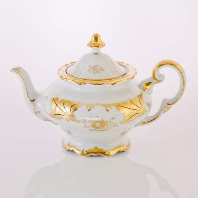 """Чайник 1,2 л """"Кленовый лист белый""""  Weimar Porzellan (Веймар)"""