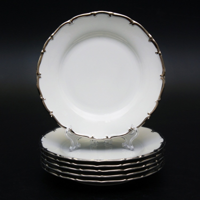 """Набор тарелок 17 см 6 шт   """"АГ 902 Платина"""" MZ Старорольский Фарфор"""