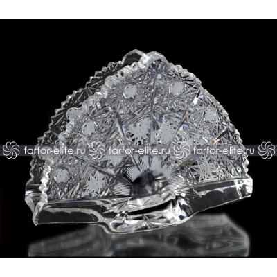 "Салфетница 15 см ""Хрусталь Снежинка"" A. Crystal"