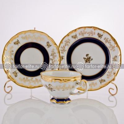 """Набор чайный подарочный на 6 перс. 18 пред. """"Анна Амалия""""  Weimar Porzellan"""