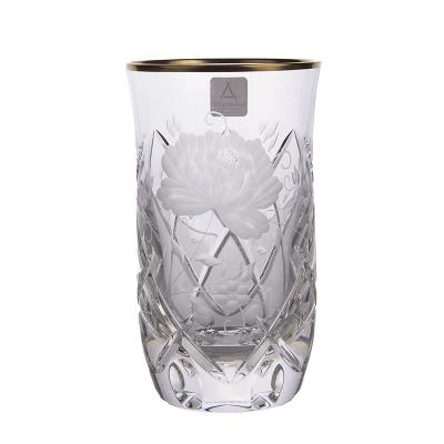 """Набор стаканов 300 мл 6 шт """"Роза Sunrose Gold"""" Arnstadt Kristall (Арнштадт)"""