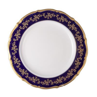 Блюдо круглое 32 см Мария Тереза Кобальт Bavarian Porcelain (Бавария)