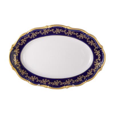 Блюдо овальное 33 см Мария Тереза Кобальт Bavarian Porcelain (Бавария)