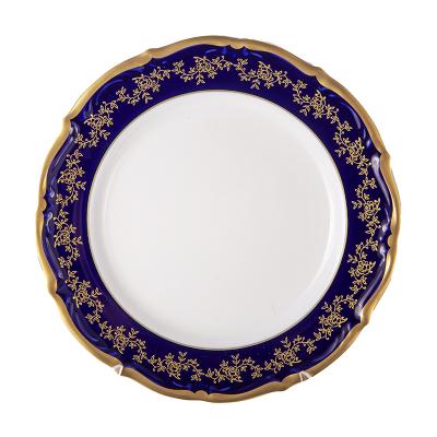 Набор тарелок 25 см 6 шт Мария Тереза Кобальт Bavarian Porcelain (Бавария)