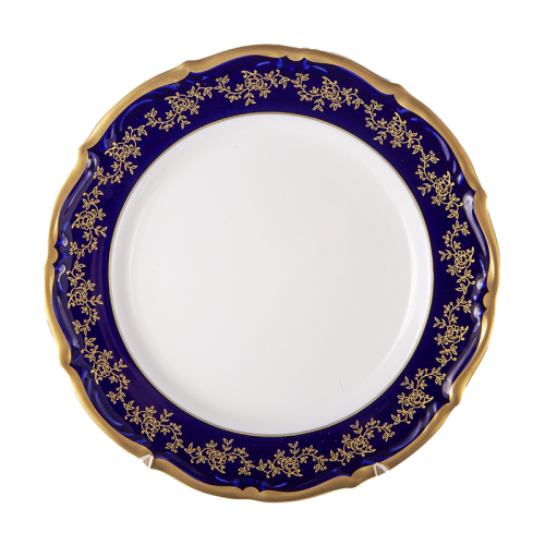 Набор тарелок 25 см 6 шт Мария Тереза Кобальт Bavarian Porcelain (Бавария) Германия