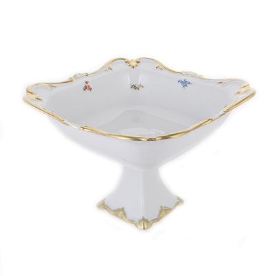 "Фруктовница на ножке 25 см ""Блюмен"" Bavarian Porcelain (Бавария)"