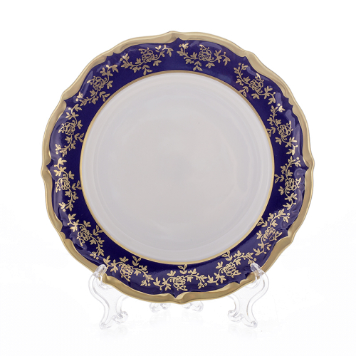 "Набор тарелок 19 см 6 шт ""Борокко Кобальт 202"" Bavarian Porcelain (Бавария) Германия"