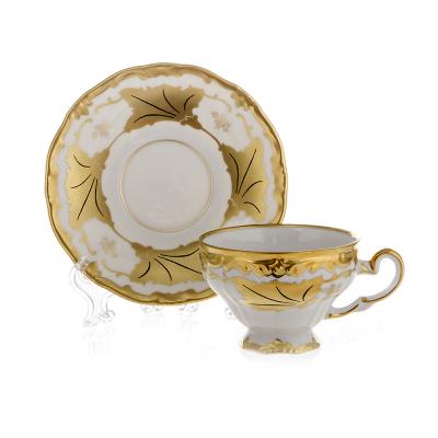 """Набор для кофе (160 мл) на 6 перс. 12пред. """"Кленовый лист белый""""  Weimar Porzellan (Веймар)"""