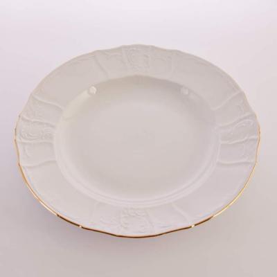"""Блюдо глубокое круглое 32 см """"Бернадот белый/золото"""" Bernadotte"""