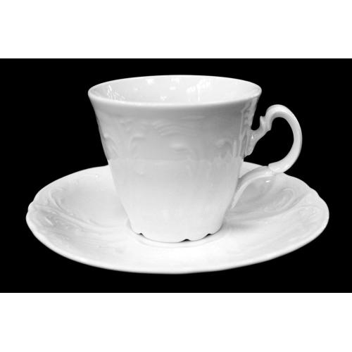 """Набор чайных пар 240 мл (ведерко) на 6 перс. 12 пред.  """"Бернадот 0000/недекорированный"""" Bernadotte (Бернадот) Чехия"""