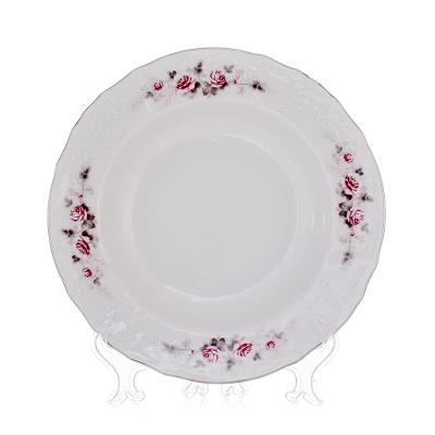 """Набор глубоких тарелок 23 см 6 шт """"Роза серая/платина"""" Bernadotte (Бернадот)"""