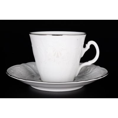 "Чайный набор 200 мл на 6 перс. 12 пред. ""Бернадот 2021 Платина"" Bernadotte (Бернадот)"