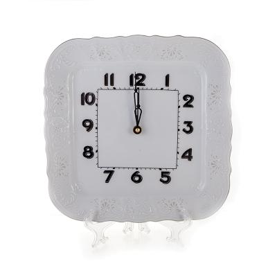 """Часы квадратные настенные 26 см """"Бернадот 2021 Платина"""" Bernadotte (Бернадот)"""