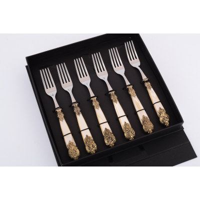 """Набор столовых вилок """"Versaille Antique Gold /Champagne Steel"""" Domus (Домус)"""