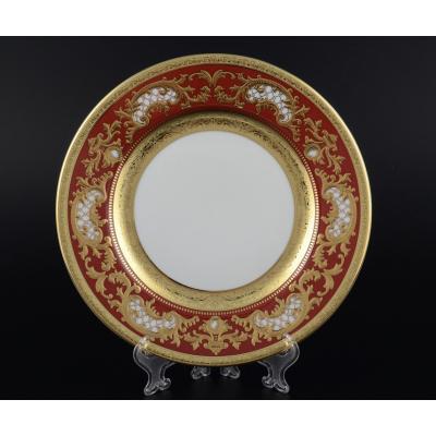 "Набор закусочных тарелок 21 см 6 шт  "" Alena 3D Bordeaux Gold Constanza""  Falken Porsellan"