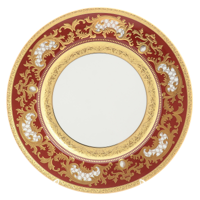 "Набор подстановочных тарелок 28,5 см 6 шт  "" Alena 3D Bordeaux Gold Constanza""  Falkenporzellan"