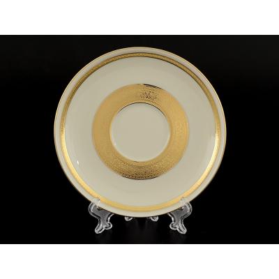 """Набор блюдец  15 см 6 шт """"Cream Gold 9321"""" Falken Porsellan"""