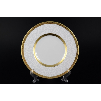 "Набор тарелок 27 см 6 шт ""Constanza Diamond Whit Gold""  Falken Porsellan"