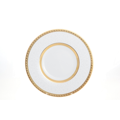 "Блюдо круглое 32 см ""Constanza Diamond White Gold""  Falken Porsellan"