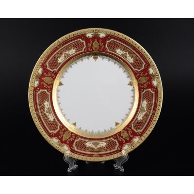 "Набор тарелок 28 см 6 шт ""Donna Bordeaux Gold""  Falken Porsellan"