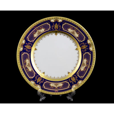 "Набор тарелок 21 см 6 шт ""Donna Kobalt Gold""  Falken Porsellan"