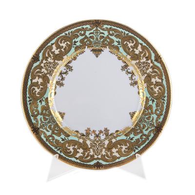 "Набор тарелок 23 см 6 шт ""Favola Seladon Gold"" Falken Porsellan"