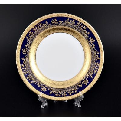 "Набор тарелок 21 см 6 шт   ""Constanza Cobalt Gold""  Falken Porsellan"