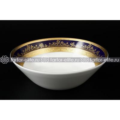 """Набор салатников 19 см 6 шт   """"Constanza Cobalt Gold""""  Falken Porsellan"""