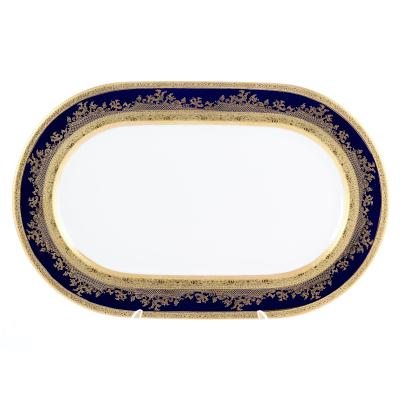 """Блюдо овальное 36 см """"Constanza Cobalt Gold""""  Falken Porsellan"""