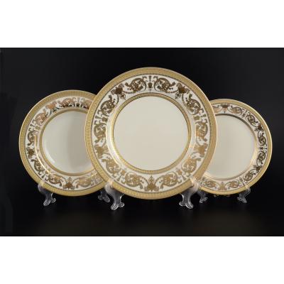 "Набор тарелок на 6 перс. 18 шт  ""Constanza Crem Gold""  Falken Porsellan"