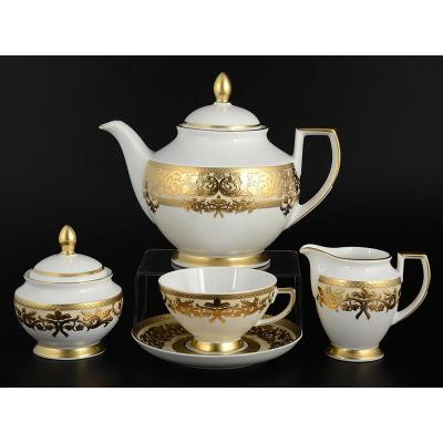 """Чайный сервиз на 6 перс. 15 пред.  """"Natalia creme gold""""  Falken Porsellan"""