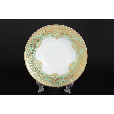 "Набор глубоких тарелок 23,5 см 6 шт  ""Natalia Green Gold""  Falken Porsellan"
