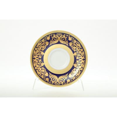 """Набор блюдец 15 см 6 шт """"Natalia Cobalt Gold""""  Falken Porsellan"""