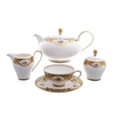 """Чайный сервиз на 6 перс. 15 пред. """"Opal Cobalt Gold"""" Falken Porsellan"""