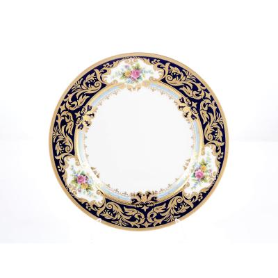 "Набор тарелок 28 см 6 шт ""Opal Cobalt Gold"" Falken Porsellan"