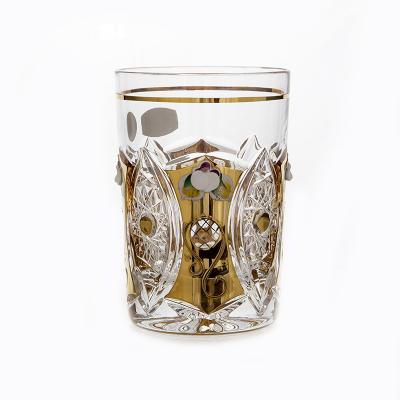 """Набор стаканов 280 мл 6 шт """"Хрусталь с золотом"""" Glasspo (Гласспо)"""