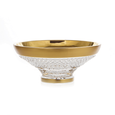 """Ваза для конфет 15,5 см """"Фелиция хрусталь с золотом"""" Glasspo (Гласпо)"""