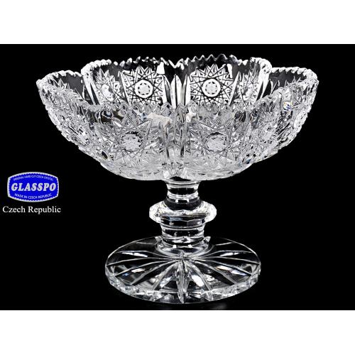 """Ваза для конфет 15 см """"Хрусталь Снежинка"""" Glasspo (Гласпо) Чехия"""