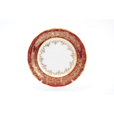 "Набор тарелок 19 см 6 шт ""Лист красный"" Carlsbad (Карлсбад)"