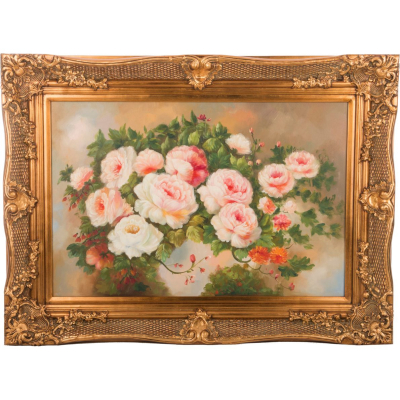 "Картина масло на холсте 89 х 59 см ""Цветы"""
