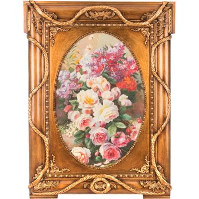"Картина масло на холсте 126 х 90 см ""Цветы без вазы"""