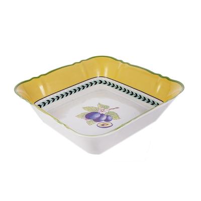 Салатник квадратный 21 см Фрукты  Leander (Леандер)