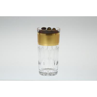 "Набор стаканов 350 мл 6 шт ""Золотая полоса"" Max Crystal (Макс Кристал)"