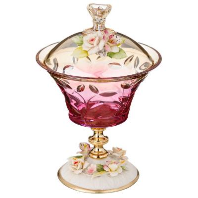 """Шкатулка высота 26 см, диаметр 18 см """"Цветок Розовый"""" Rosaperla (Розаперла)"""
