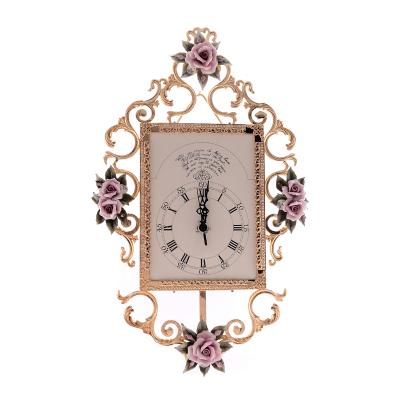 Часы настенные с розовыми цветами Rosaperla (Розаперла)
